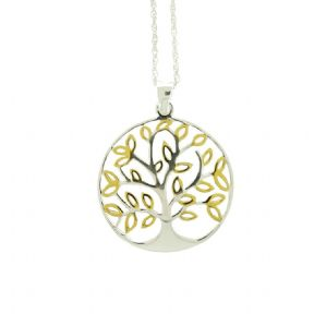 Sterling Silver & Gold Plated Tree of Life Pendant 1906